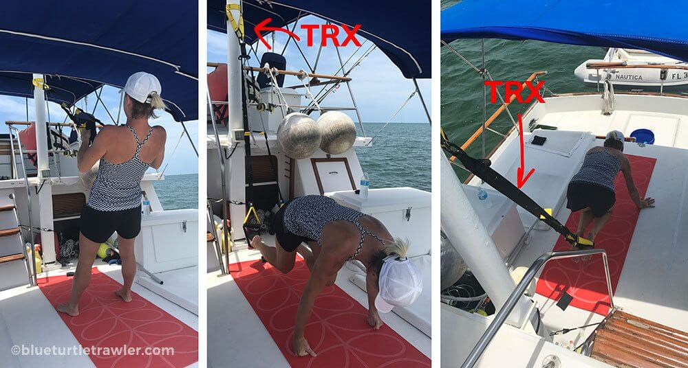 TRX Workout living aboard