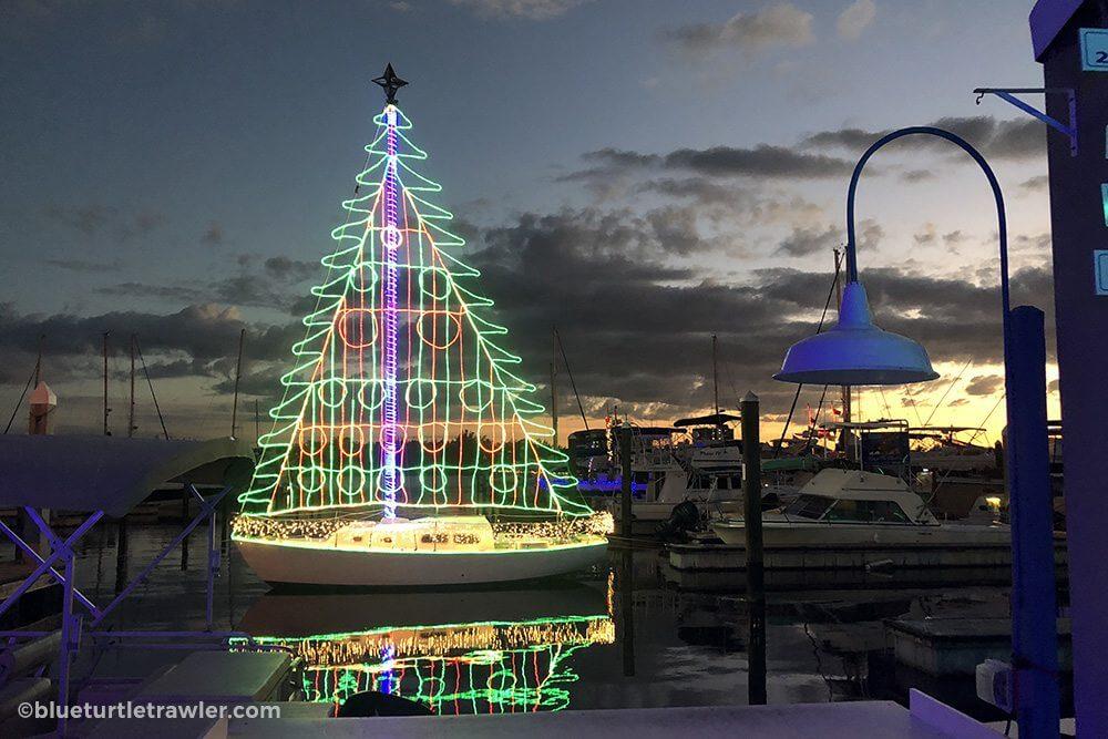 Salty Sam's sailboat Christmas Tree