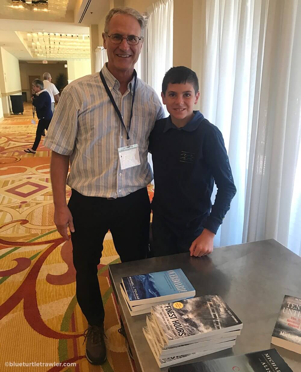 Corey got to meet author Michael Tobias of whom he's read several of his books.