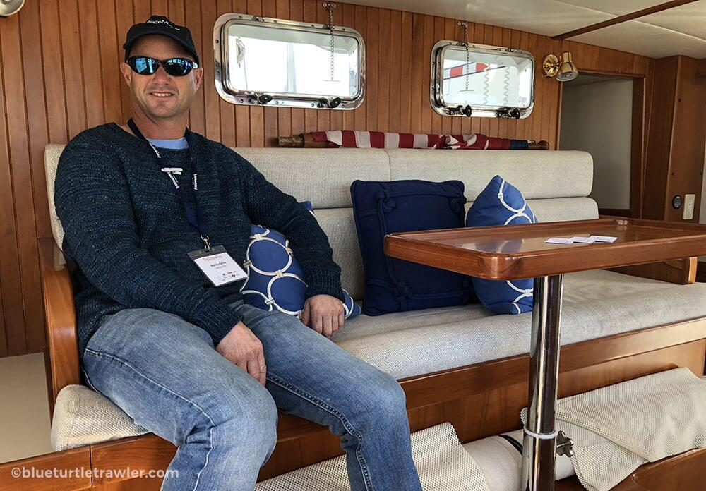 Relaxing in the pilothouse