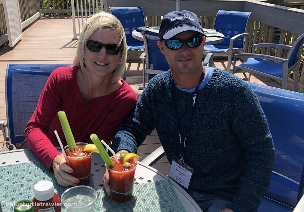Post seminar lunch and celebratory Bloody Mary