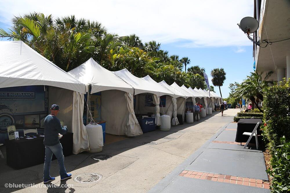 TrawlerFest Exhibitor tents