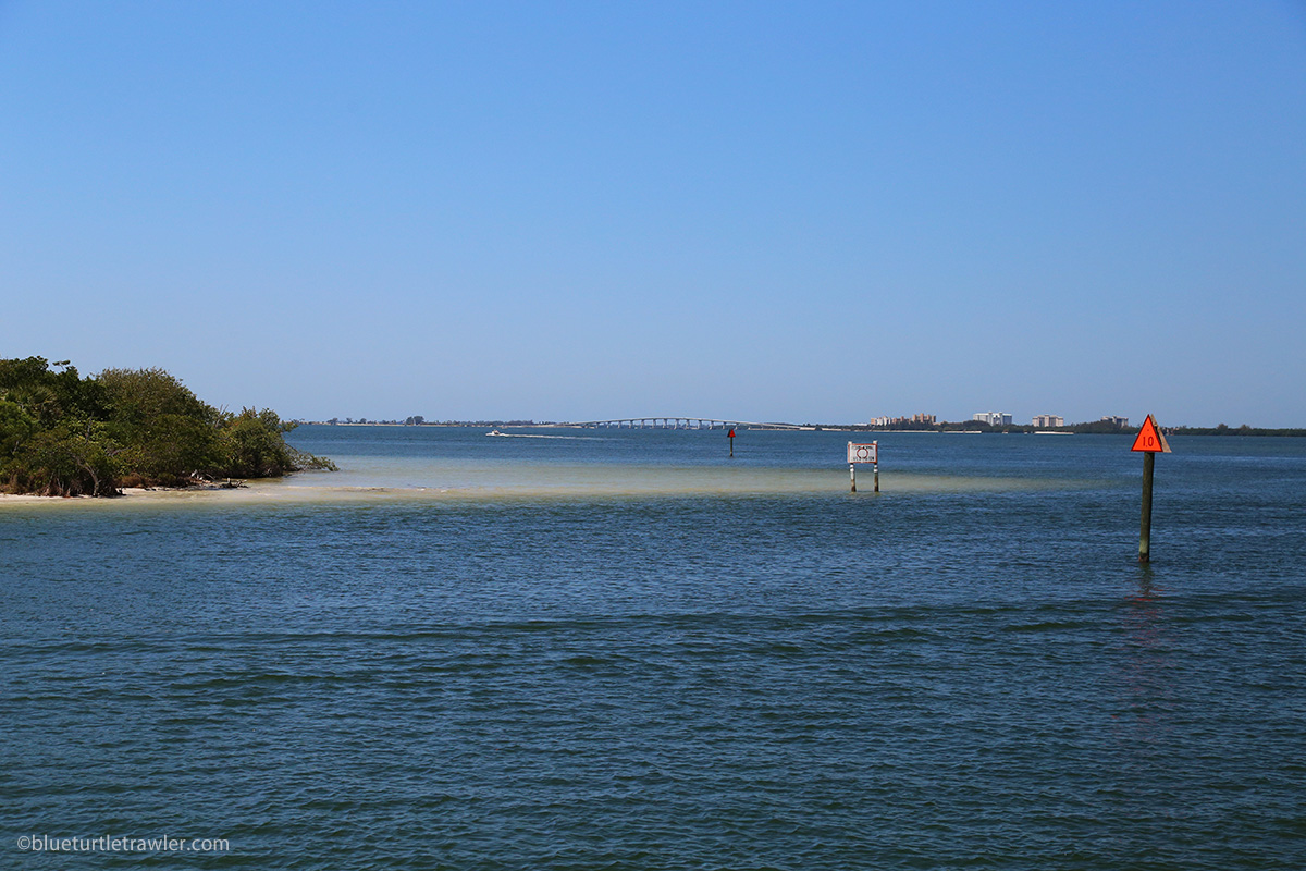 Bowditch Beach with Sanibel Causeway in the distance