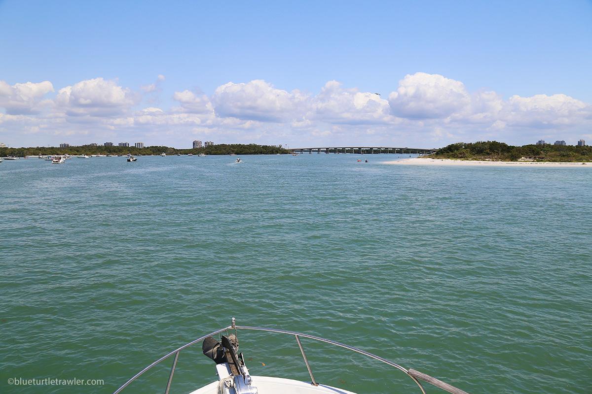 view of New Pass waterway