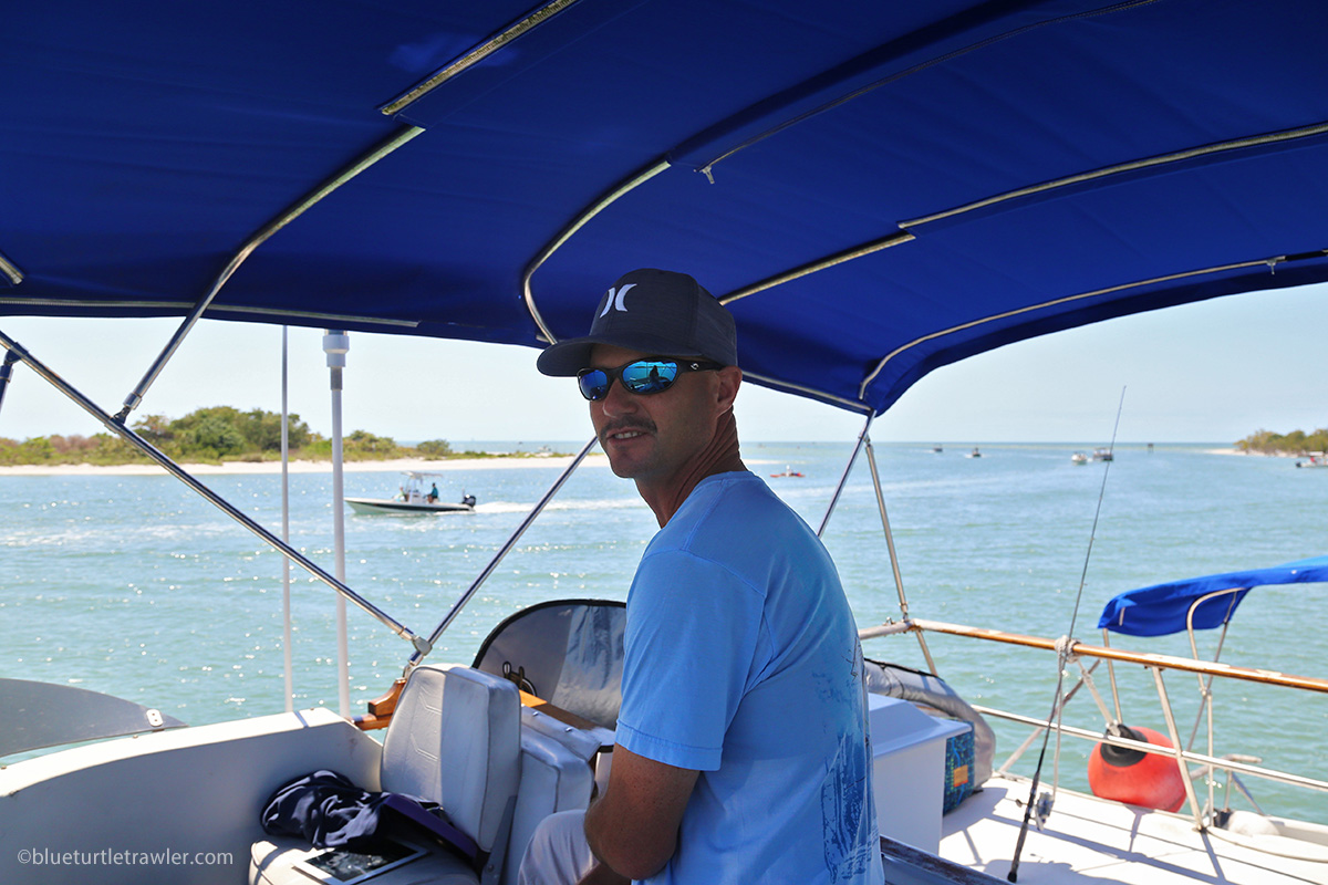 man on trawler bridge