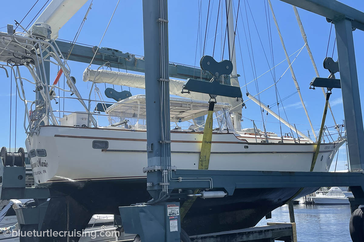sailboat haul out and survey